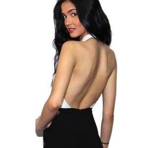 MinkPink dress- halter, backless, short, NTW